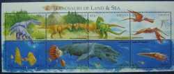 Liberia, Prehistoric animals, 8stamps