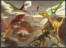 Dominica, Prehistoric animals, 2005, 4stamps