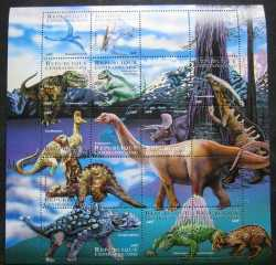 Central African Republic, Prehistoric animals, 12stamps
