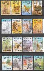 Maldives, Prehistoric animals, 1992, 16stamps