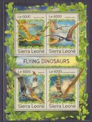 Sierra Leone, Prehistoric animals, 2016, 4stamps