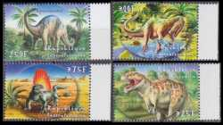 Central African Republic, Prehistoric animals, 2001, 4 stamps