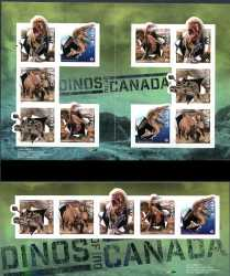 Canada, Prehistoric animals, 15 stamps