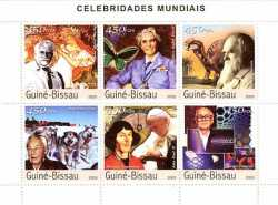 Guinea-Bissau, Famous People, 2003, 6 stamps