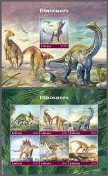 Liberia, Prehistoric animals, 2020, 7stamps