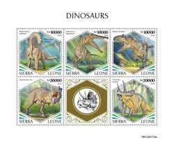Sierra Leone, Prehistoric animals, 2020, 5stamps