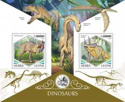 Sierra Leone, Prehistoric animals, 2020, 2stamps