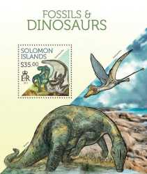 Solomon Islands, Prehistoric animals, 2013, 1stamp