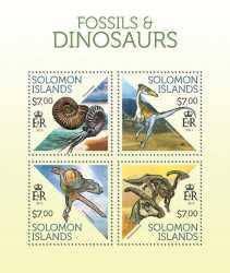 Solomon Islands, Prehistoric animals, 2013, 4stamps