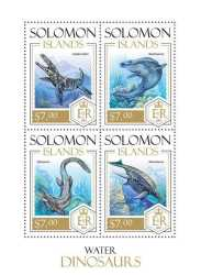 Solomon Islands, Prehistoric animals, 2013, 4 stamps