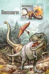 Mozambique, Prehistoric animals, 2016, 1stamp