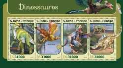 Sao Tome and Principe, Prehistoric animals, 2016, 4stamps