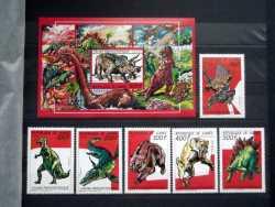 Guinea, Prehistoric animals, 1987, 38stamps