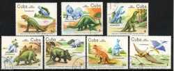 Prehistoric animals, Cuba, 1985, 7stamps