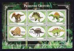 Mauritania, Prehistoric animals, 2018, 6 stamps