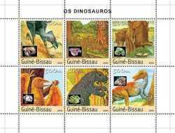 Guinea-Bissau, Prehistoric animals, 2003, 7stamps