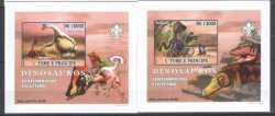 Sao Tome and Principe, Prehistoric animals, 2007, 3stamps