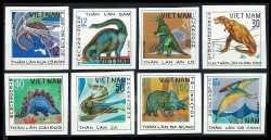 Vietnam, Prehistoric animals, 1979, 8stamps (imperf.)