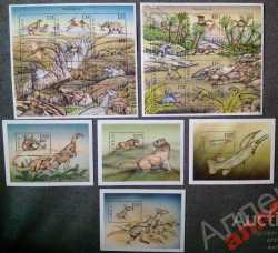 Gambia, Prehistoric animals, 1999, 27 stamps