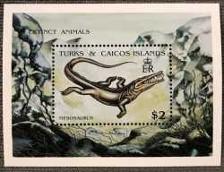 Turks and Caicos Islands, Prehistoric animals, 1991, 1stamp