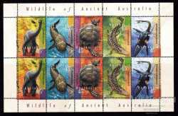 Australia, Prehistoric animals, 1997, 10stamps