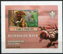 Sao Tome and Principe, Prehistoric animals, 2007, 1 stamp (imperf.)