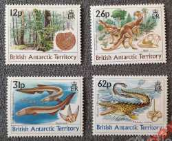 United Kingdom, Prehistoric animals, 1991, 4 stamps