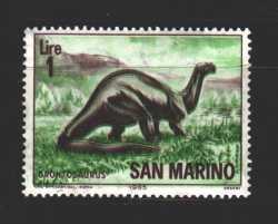 San Marino, Prehistoric animals, 1965, 1stamp