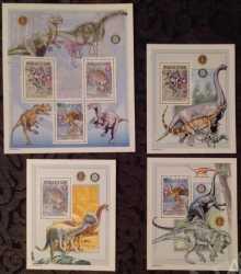 Guinea, Prehistoric animals, 2002, 6stamps