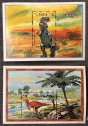 Gambia, Prehistoric animals, 1995, 2 stamps