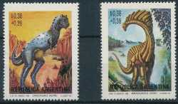Argentina, Prehistoric animals, 1992, 2 stamps
