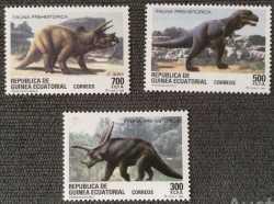 Equatorial Guinea, Prehistoric animals, 1994, 3stamps