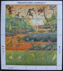 Sierra Leone, Prehistoric animals, 1992, 21stamps
