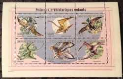 Niger, Prehistoric animals, 2000, 6 stamps