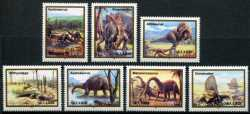 Abkhazia, Prehistoric animals, 7 stamps