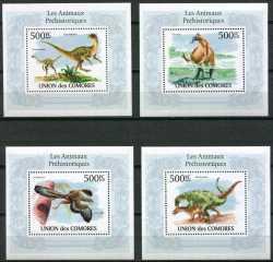 Comoros, Prehistoric animals, 2009, 4stamps