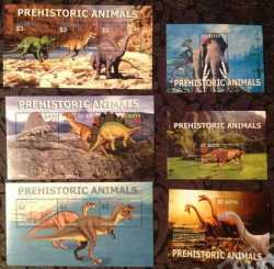 Saint Kitts and Nevis, Prehistoric animals, 2005, 12 stamps