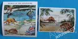 Liberia, Prehistoric animals, 1999, 7stamps