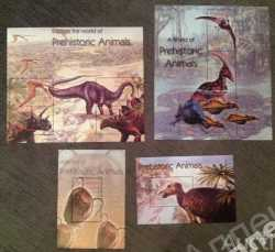 Gambia, Prehistoric animals, 2003, 10stamps