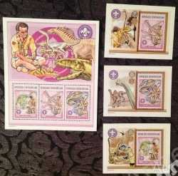 Central African Republic, Prehistoric animals, 2002, 6stamps