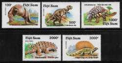 Vietnam, Prehistoric animals, 1990, 5stamps
