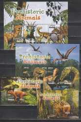 Maldives, Prehistoric animals, 10stamps