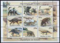 Guinea, Prehistoric animals, 1998, 9stamps