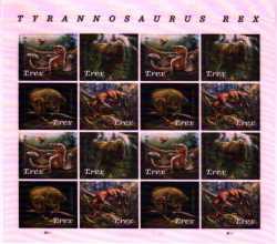 USA, Prehistoric animals, 2019, 16stamps