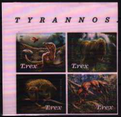 USA, Prehistoric animals, 2019, 4stamps