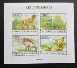 Burundi, Prehistoric animals, 2013, 4stamps (imperf.)