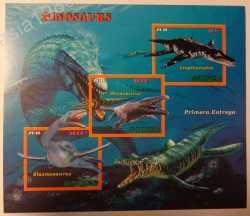 Guinea, Prehistoric animals, 2016, 3stamps (imperf.)