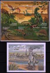 Mozambique, Prehistoric animals, 2000, 10stamps