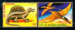 Equatorial Guinea, Prehistoric animals, 2 stamps