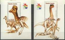 Sierra Leone, Prehistoric animals, 2001, 2stamps